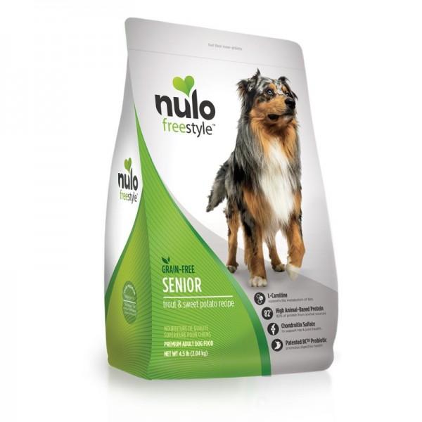 NULO – 鱒魚、甘薯無穀物配方[老犬][4.5/24lb磅]