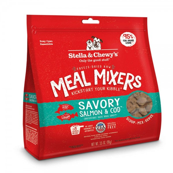 Stella & Chewy's – Savory Salmon and Cod 海洋伴侶 [Meal Mixers] [三文魚及鱈魚肉配方]