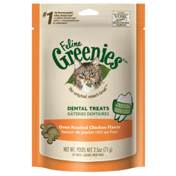Greenies 貓貓潔齒餅 - 烤雞味 (5.5oz)